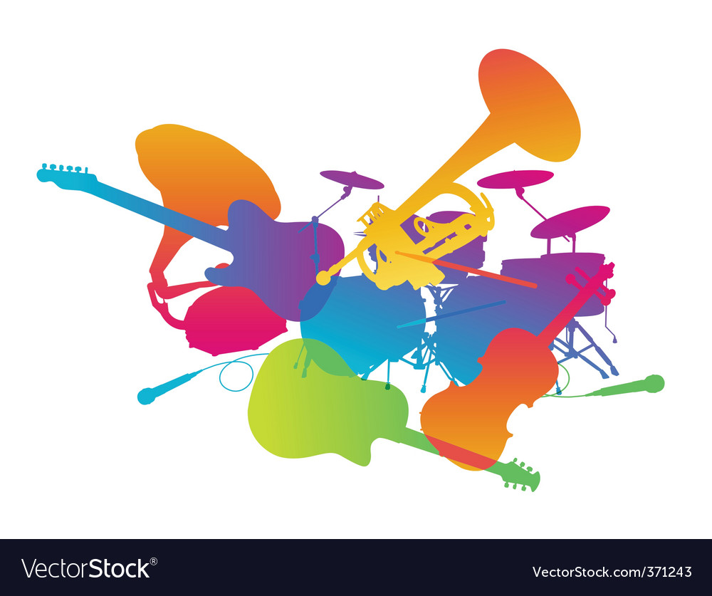 Musical instruments vector | Price: 1 Credit (USD $1)