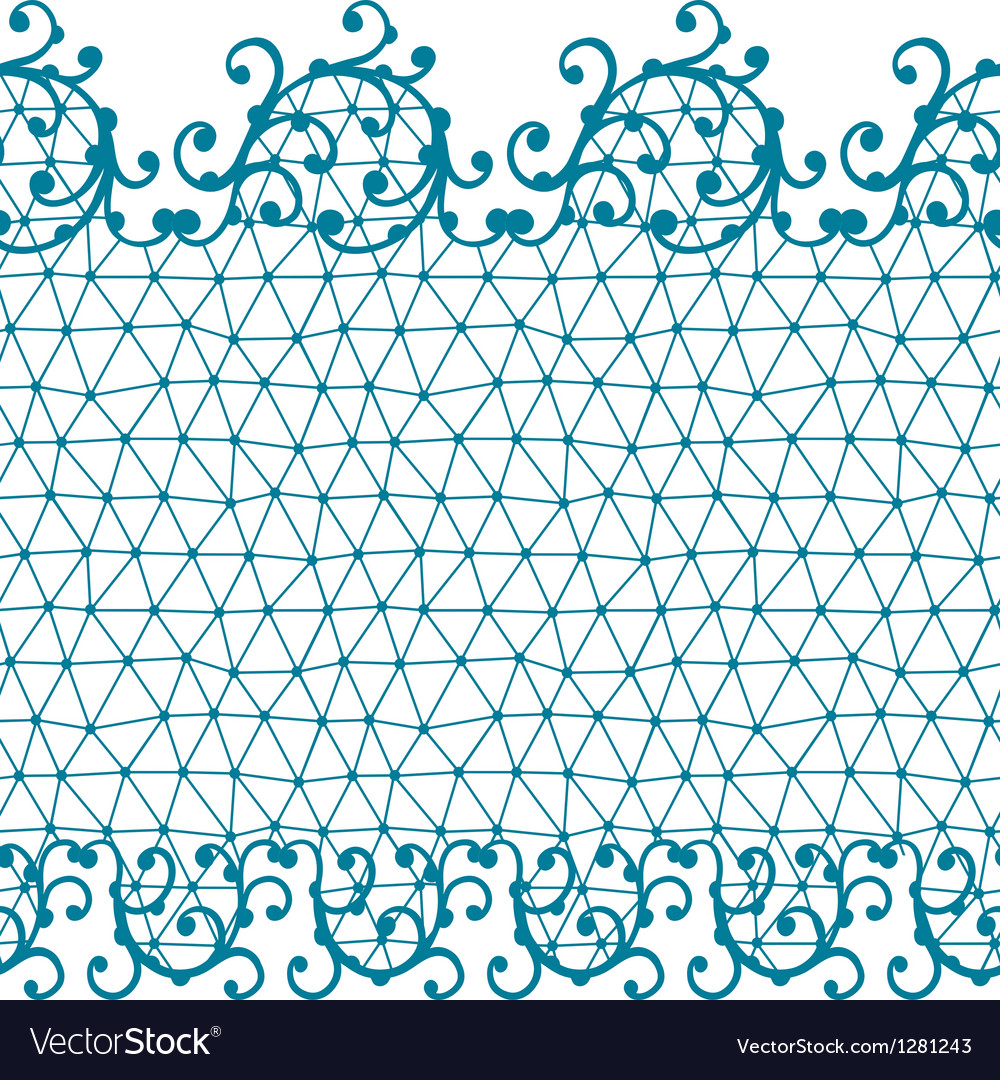 Seamless lace pattern with floral ornaments vector | Price: 1 Credit (USD $1)