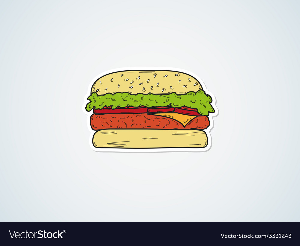 Sketch of the hamburger vector   Price: 1 Credit (USD $1)