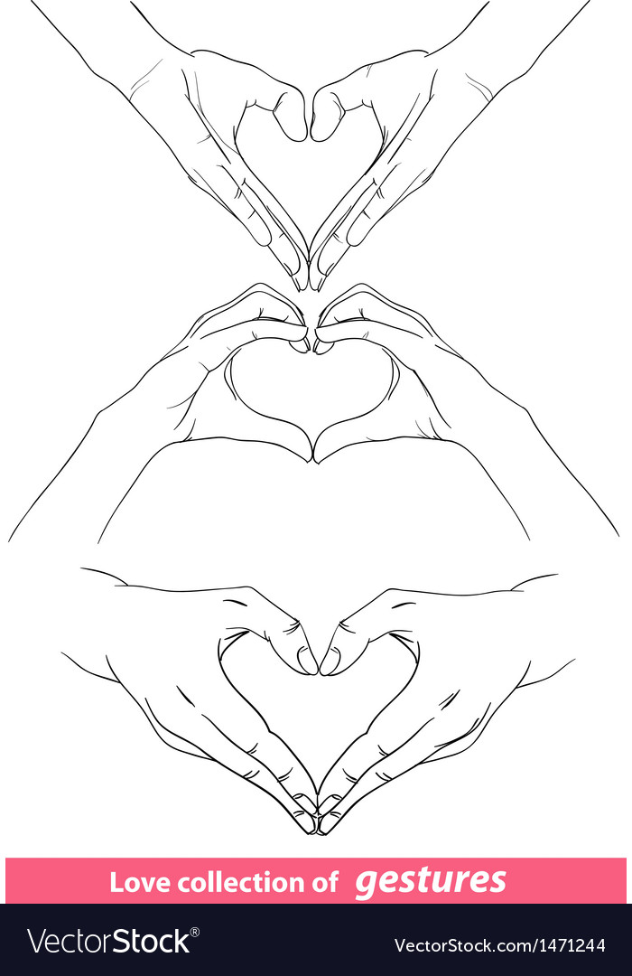 Abstract valentines hearts of human hands vector | Price: 1 Credit (USD $1)