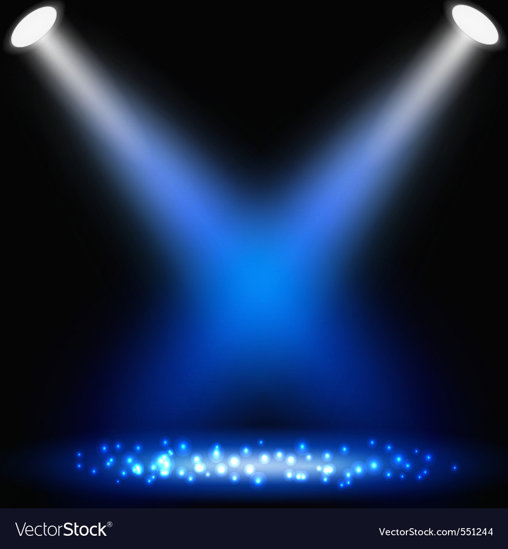 Blue background with spotlights vector | Price: 1 Credit (USD $1)