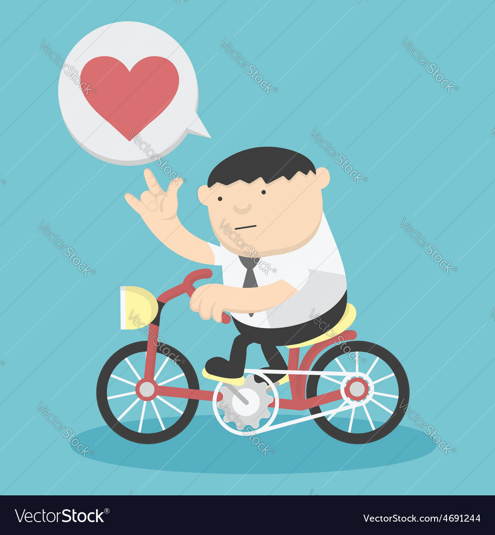 Business cycling show love vector | Price: 1 Credit (USD $1)
