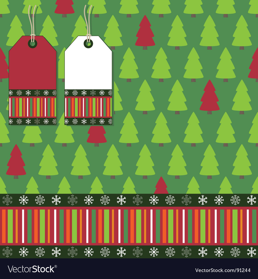 Christmas tree wrapping vector | Price: 1 Credit (USD $1)