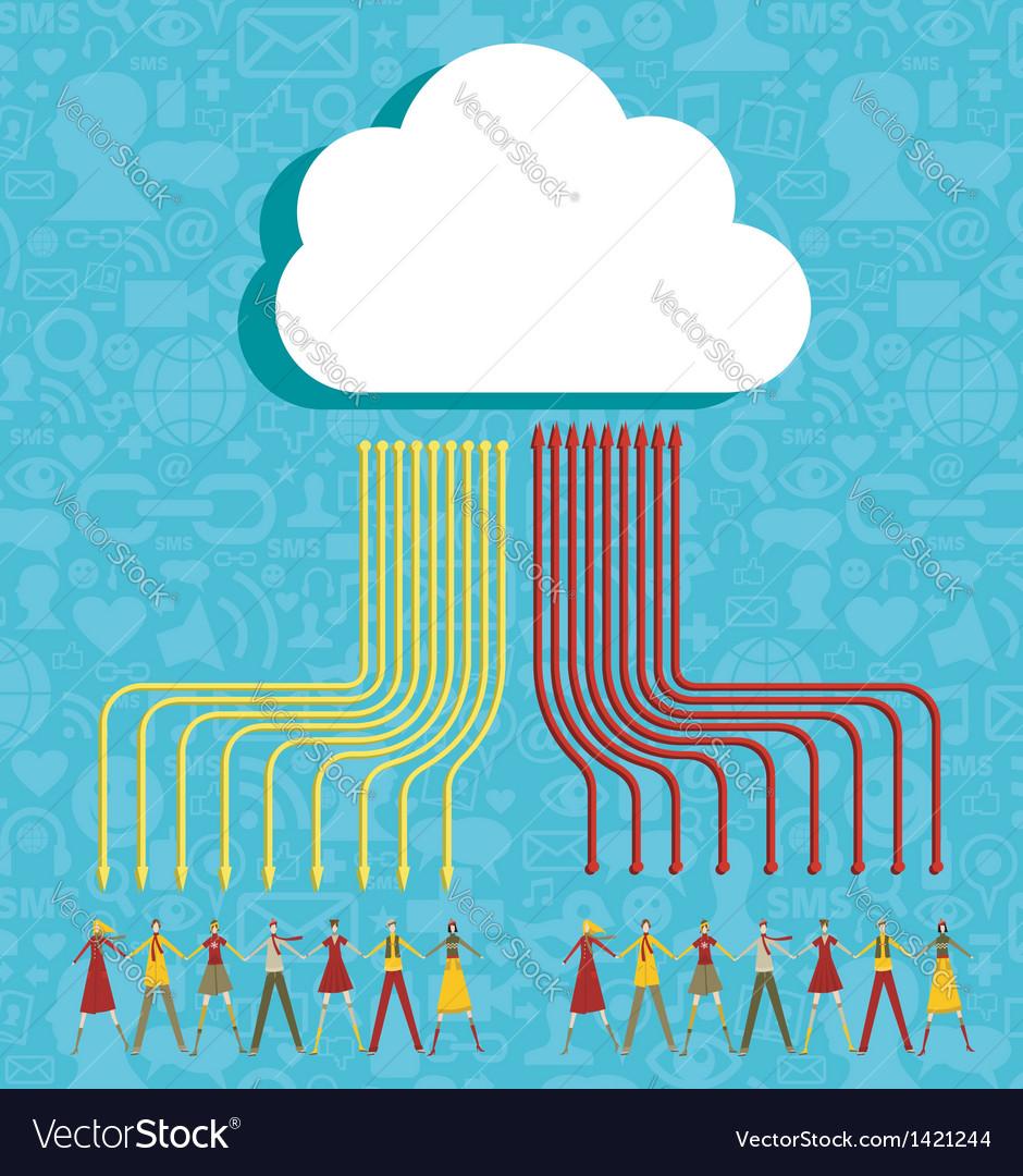 Cloud computing people concept vector   Price: 1 Credit (USD $1)