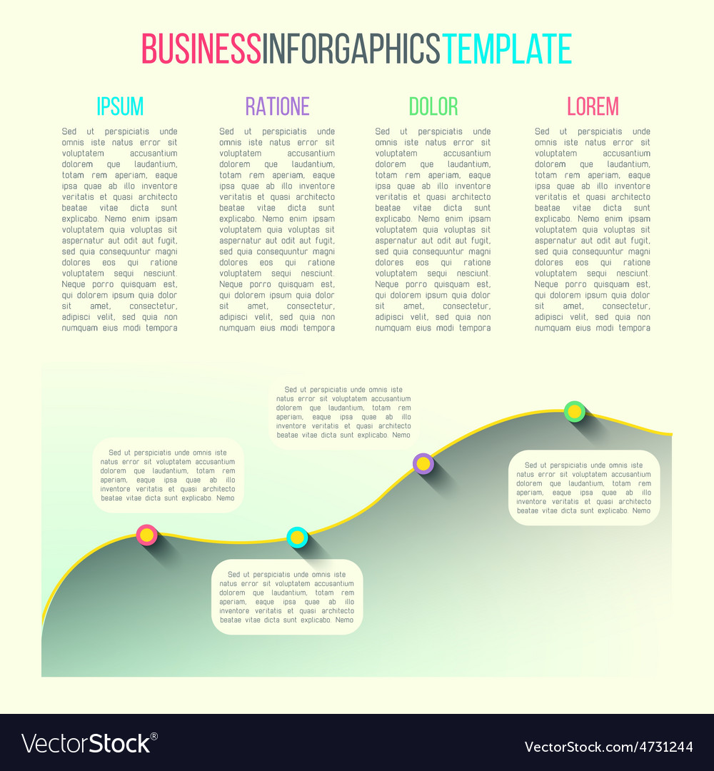 Graph infographic template made in modern vector | Price: 1 Credit (USD $1)