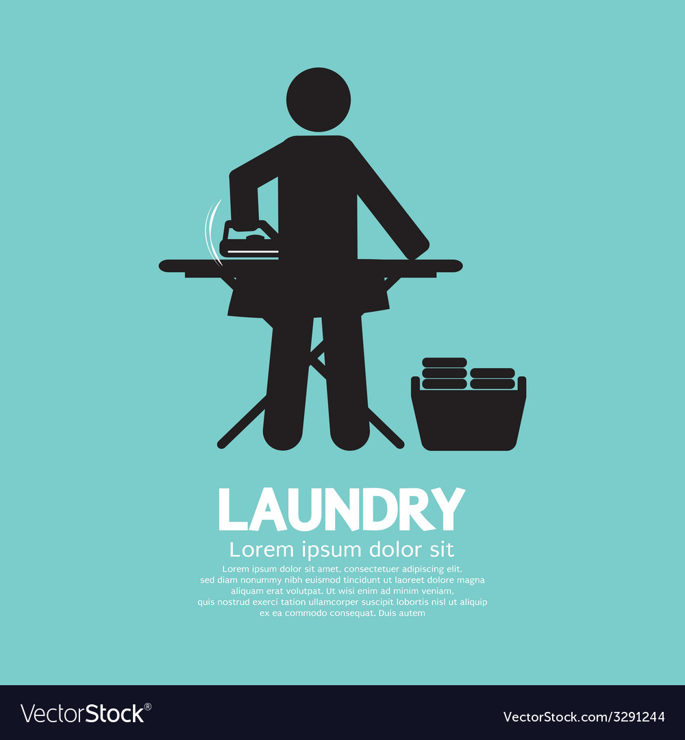 Laundry black symbol graphic vector | Price: 1 Credit (USD $1)