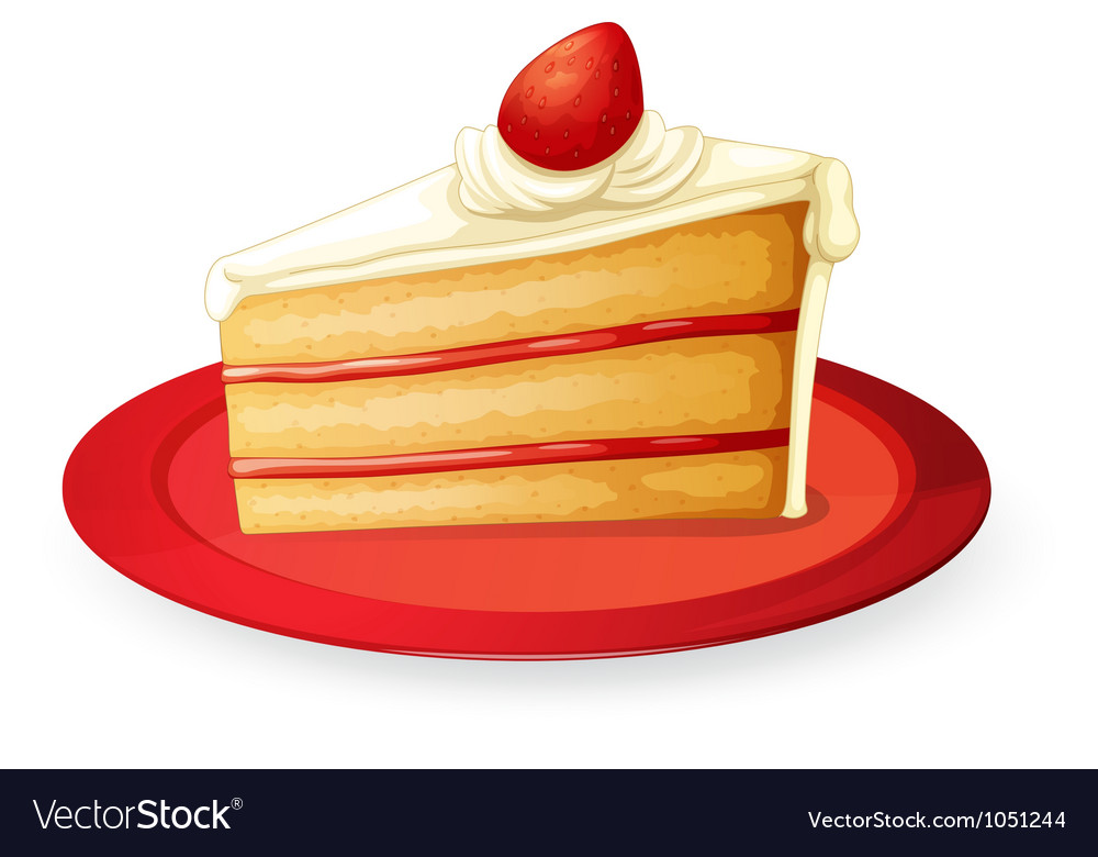 Pastry in red dish vector | Price: 1 Credit (USD $1)