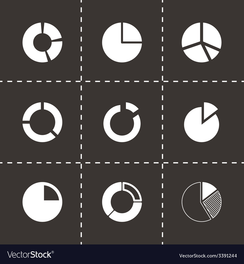 Pie chart icon set vector | Price: 1 Credit (USD $1)