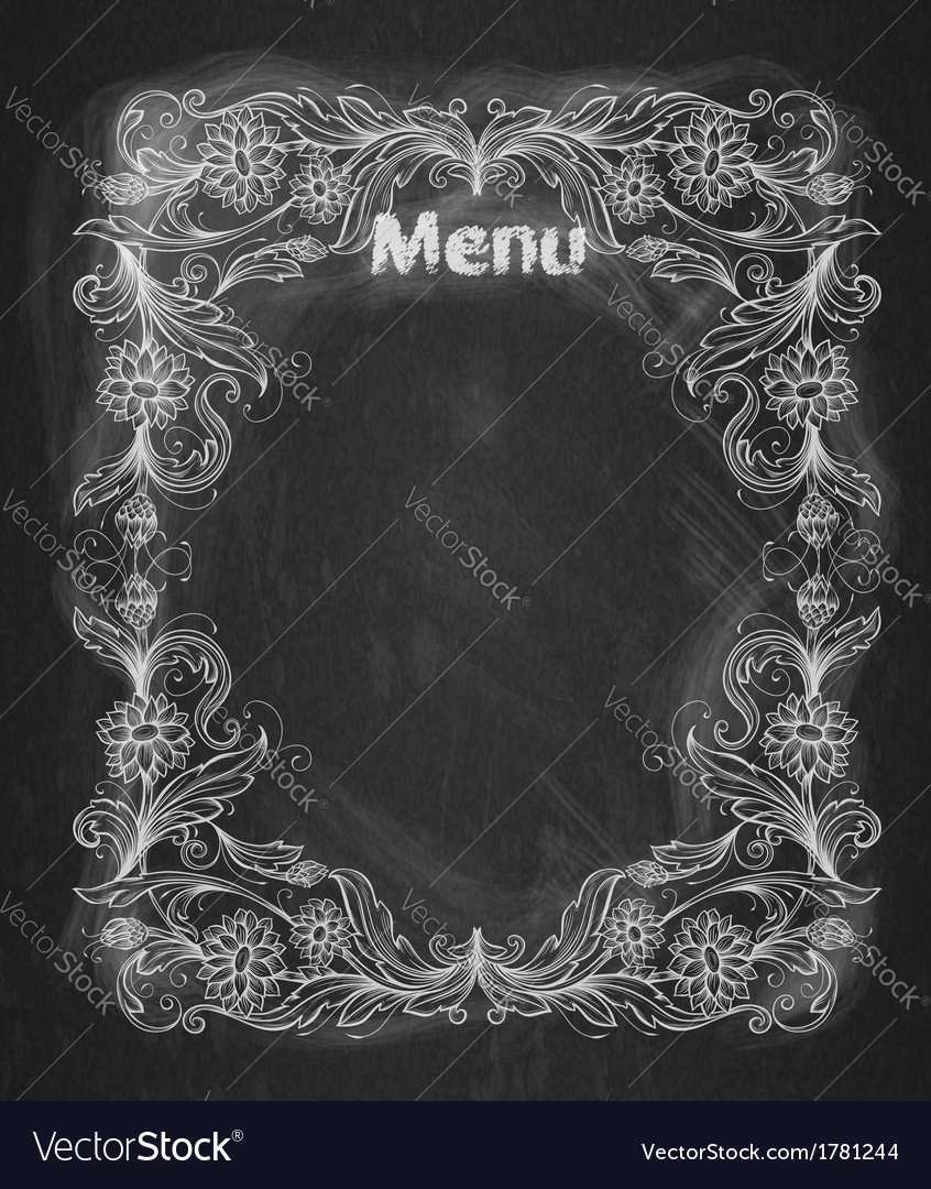 Vintage frame on the chalkboard vector | Price: 1 Credit (USD $1)