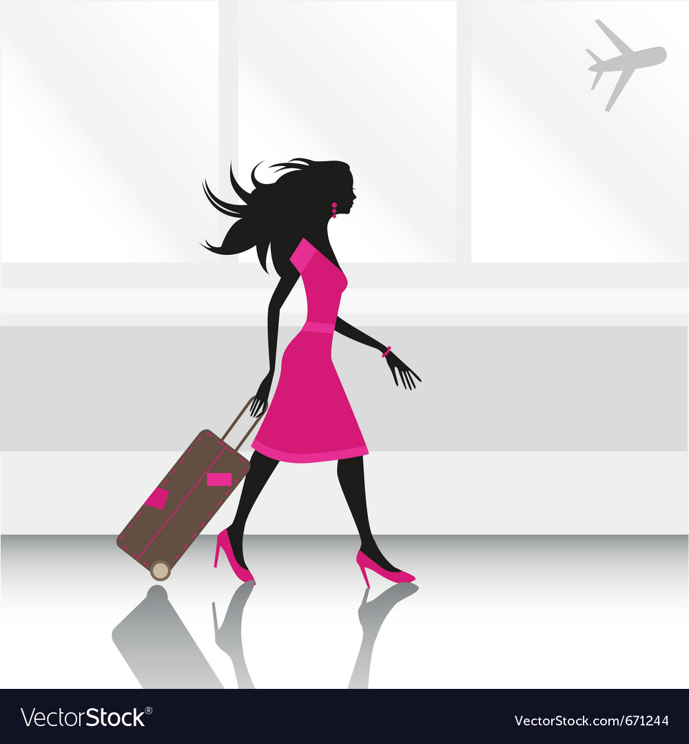 Woman traveling vector | Price: 1 Credit (USD $1)