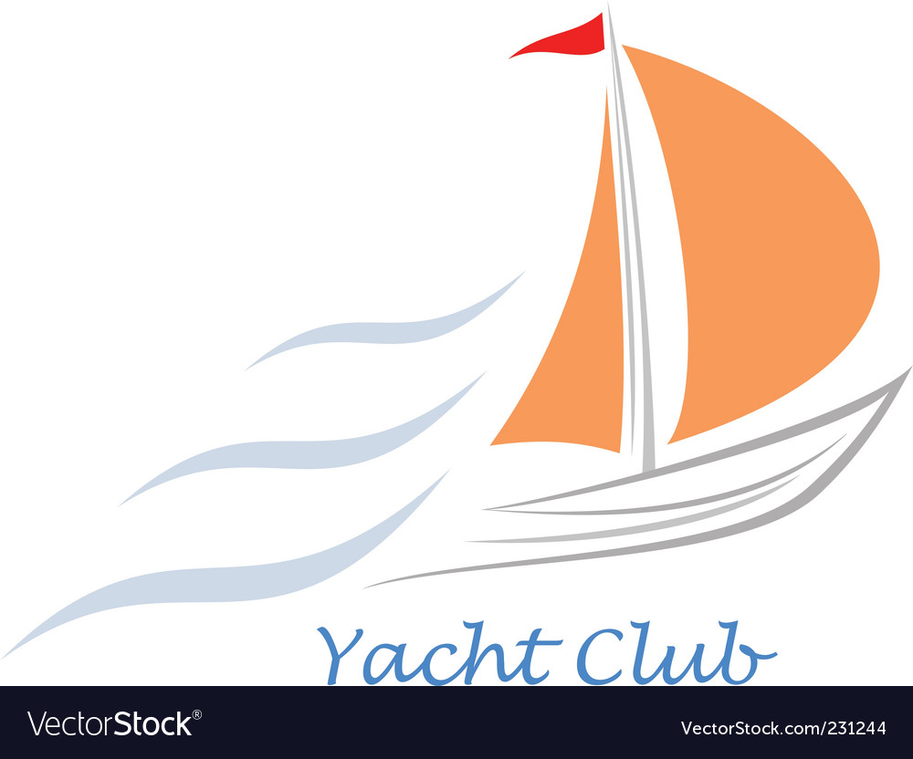 Yacht sailboat vector | Price: 1 Credit (USD $1)