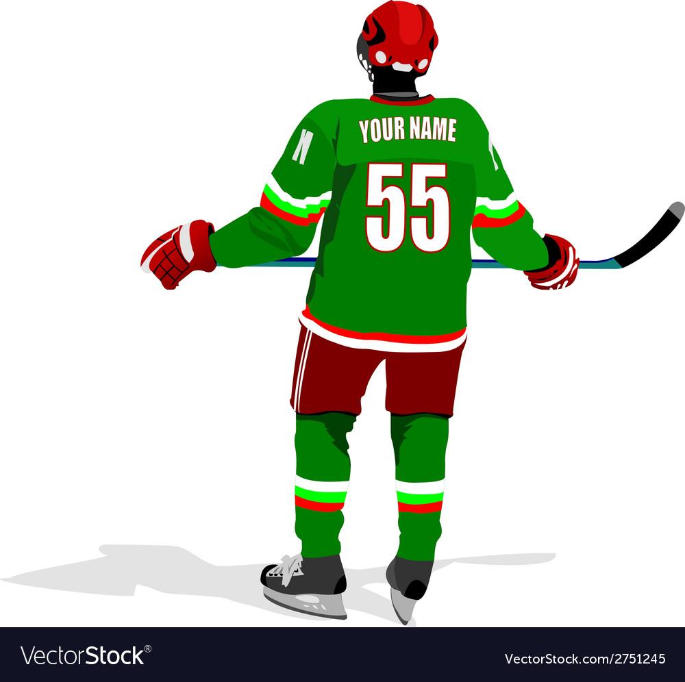 Al 0711 hockey poster 03 vector | Price: 1 Credit (USD $1)