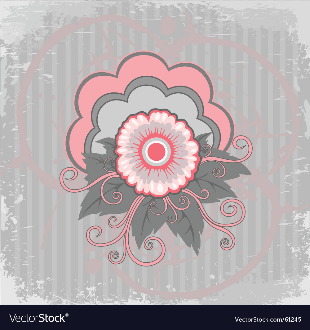Bakground with pink flower vector | Price: 1 Credit (USD $1)