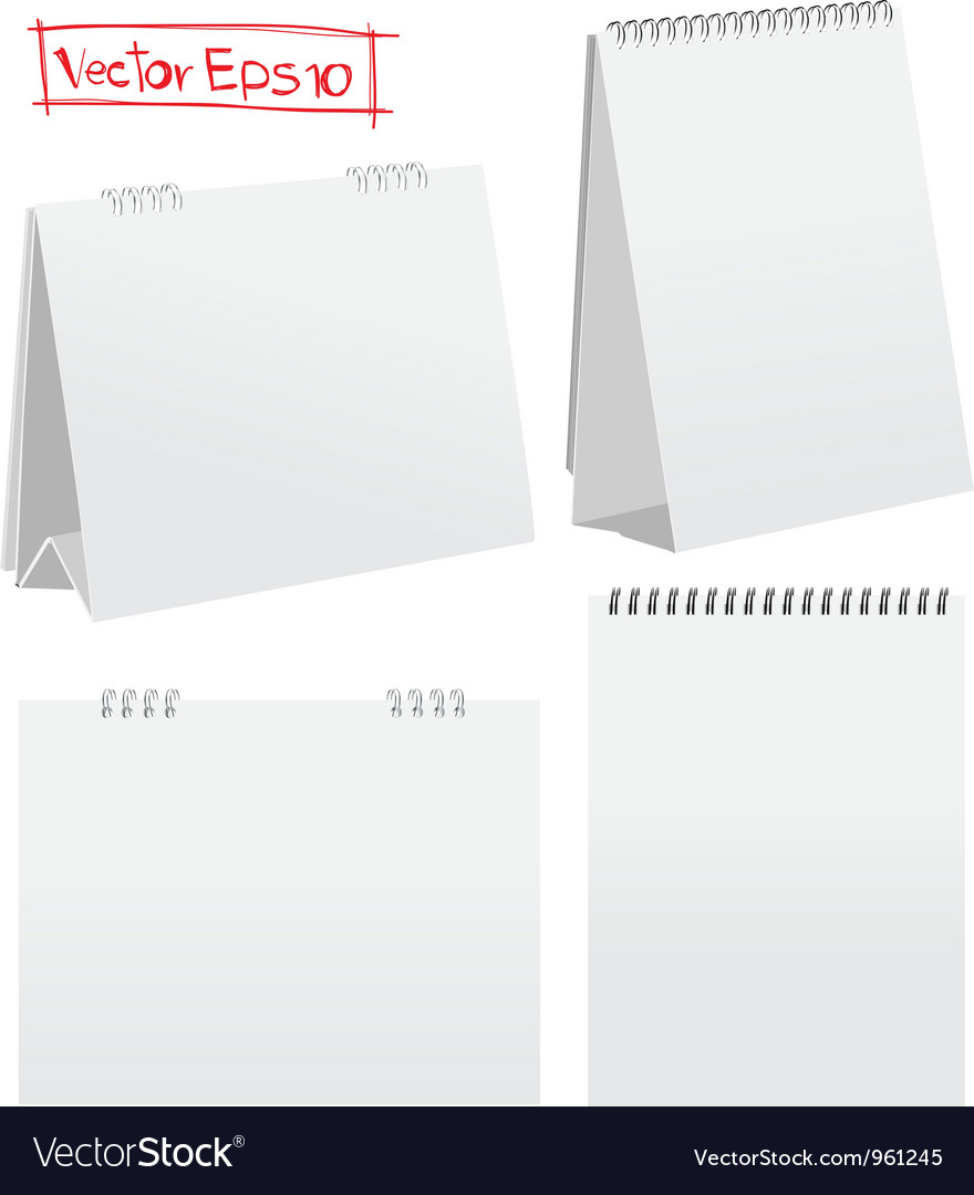 Blank desktop calendar vector | Price: 1 Credit (USD $1)
