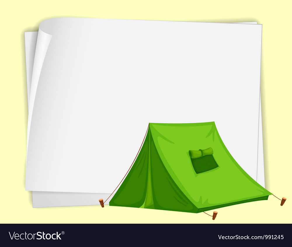Camping tent paper copyspace vector | Price: 1 Credit (USD $1)