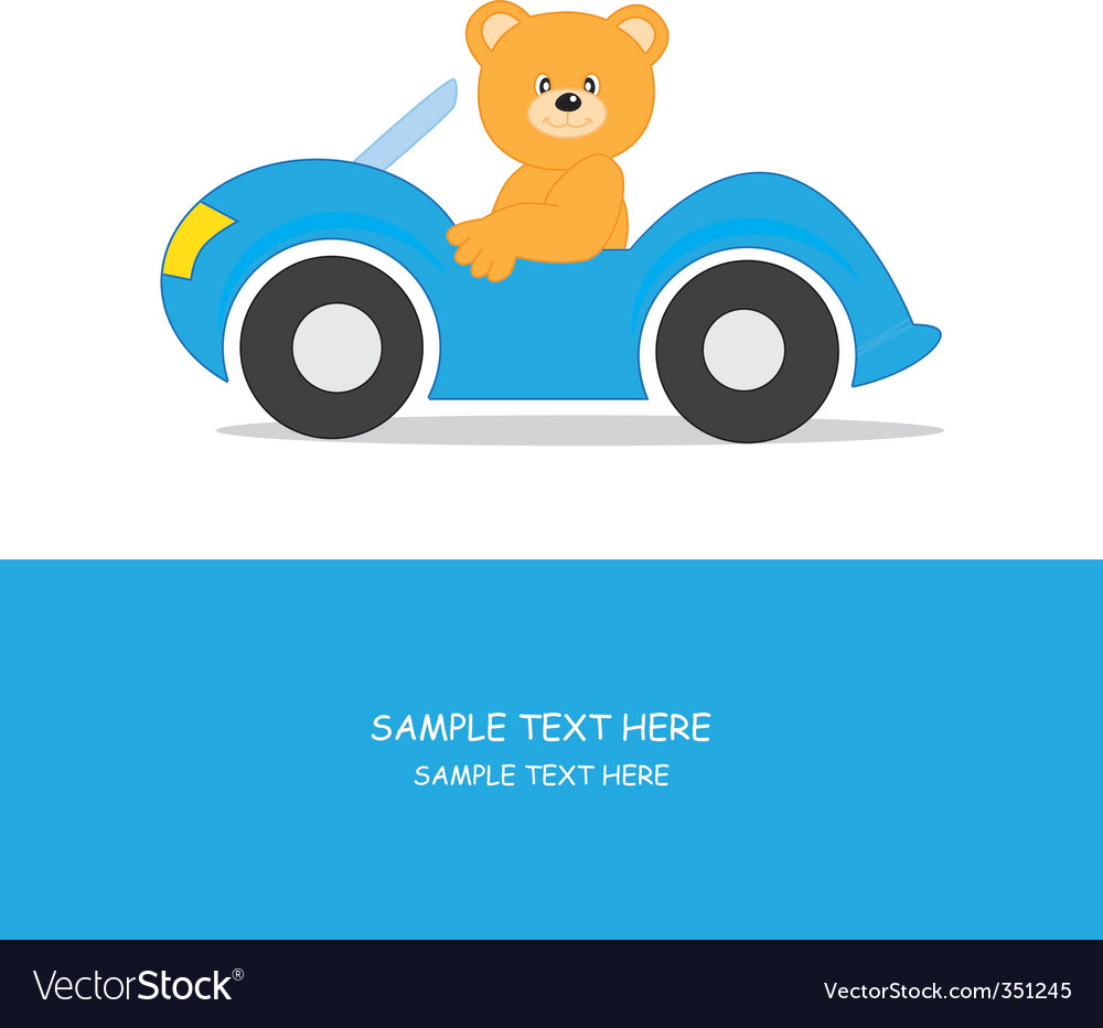 Car bear vector | Price: 1 Credit (USD $1)