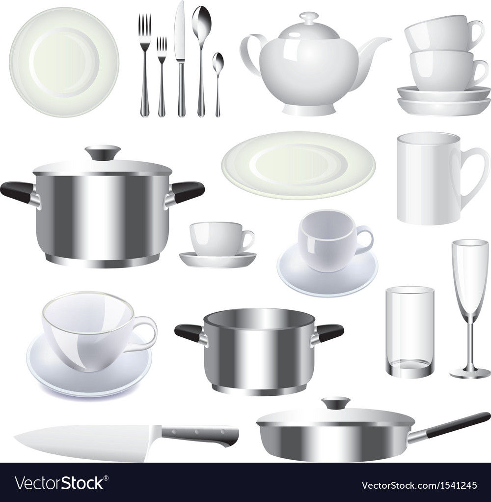 Crockery set vector | Price: 3 Credit (USD $3)