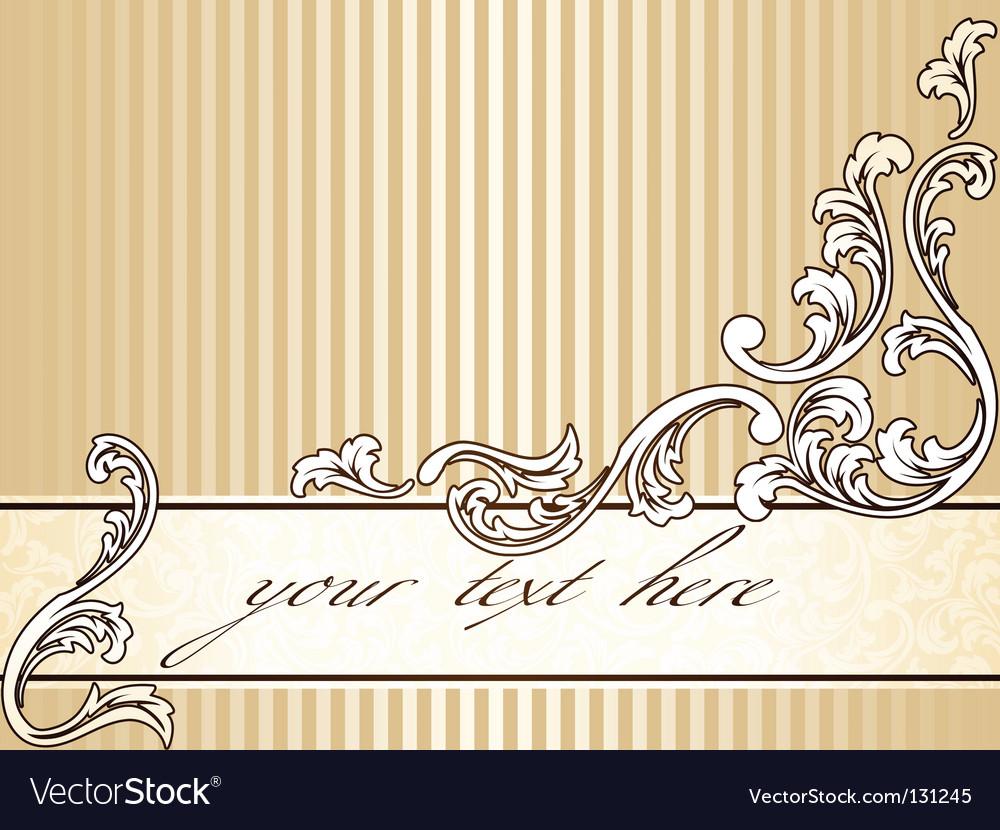 Elegant vintage sepia banner horizontal vector | Price: 1 Credit (USD $1)