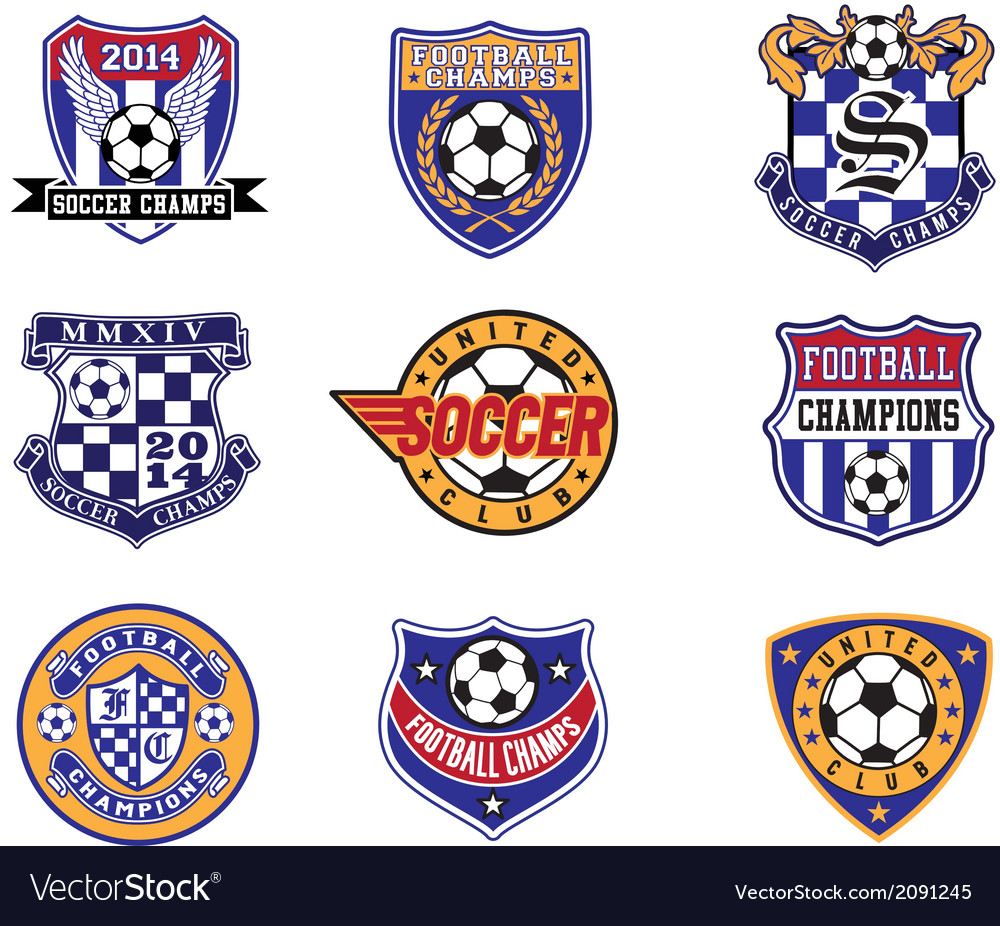 Football soccer badges patches and emblem vector | Price: 1 Credit (USD $1)