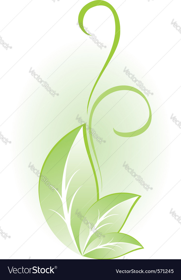 Green plant for design vector | Price: 1 Credit (USD $1)