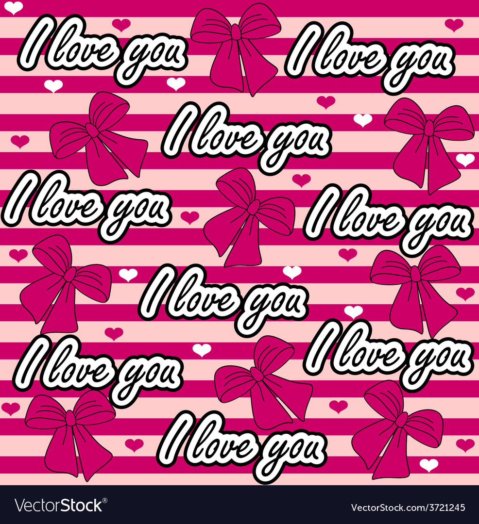 Love you seamless pattern colorful love vector | Price: 1 Credit (USD $1)