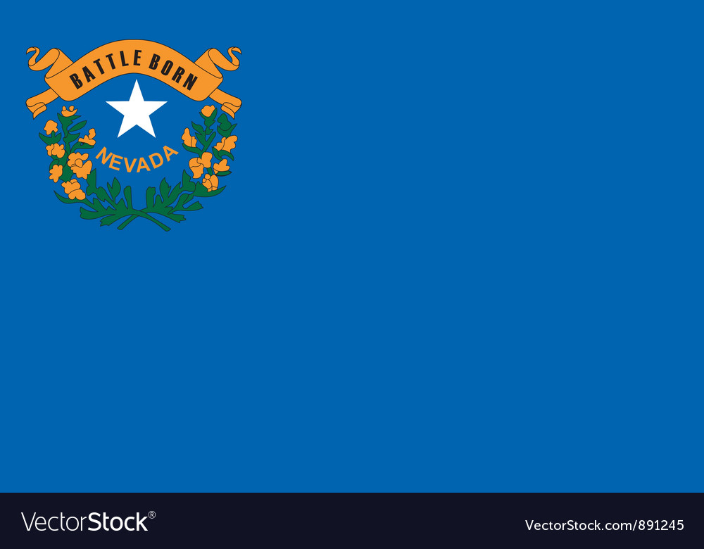 Nevada flag vector | Price: 1 Credit (USD $1)
