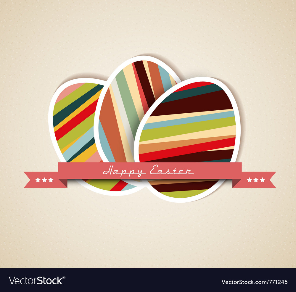 Paper card easter eggs vector | Price: 1 Credit (USD $1)