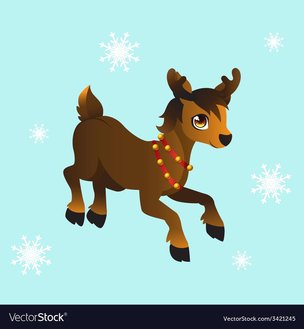 Santas reindeer vector | Price: 1 Credit (USD $1)