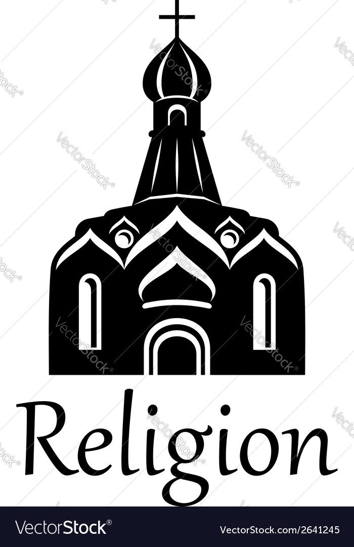 Silhouette of church vector | Price: 1 Credit (USD $1)