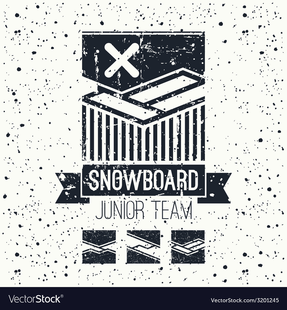 Snowboard junior team emblem vector | Price: 1 Credit (USD $1)