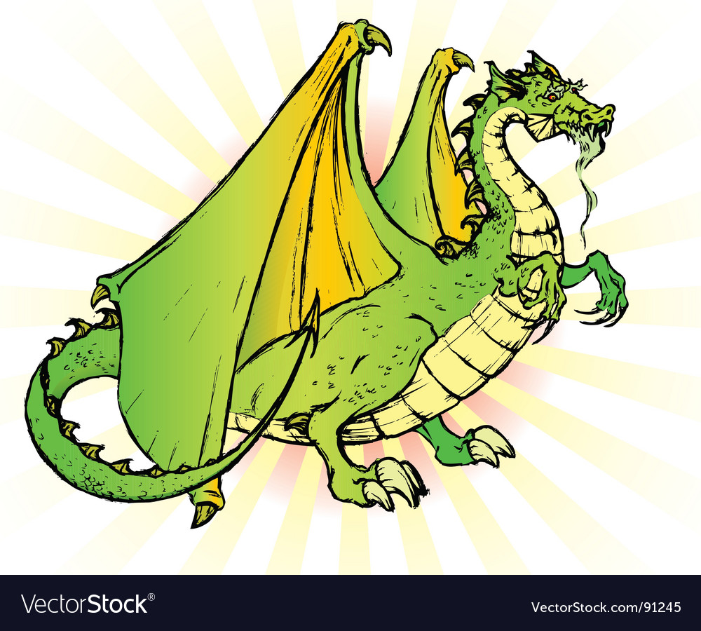 Tale dragon vector | Price: 1 Credit (USD $1)