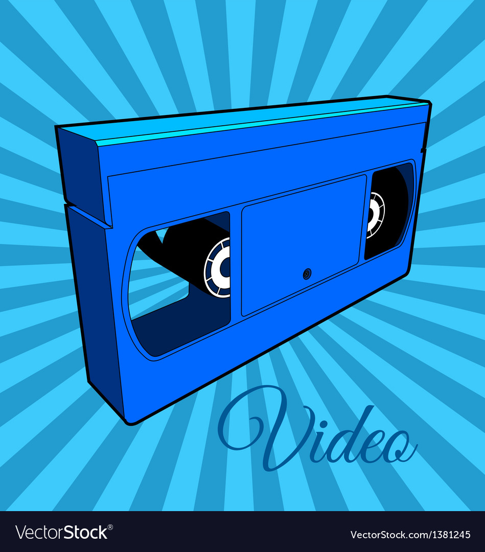 Video cassette tape vector | Price: 1 Credit (USD $1)