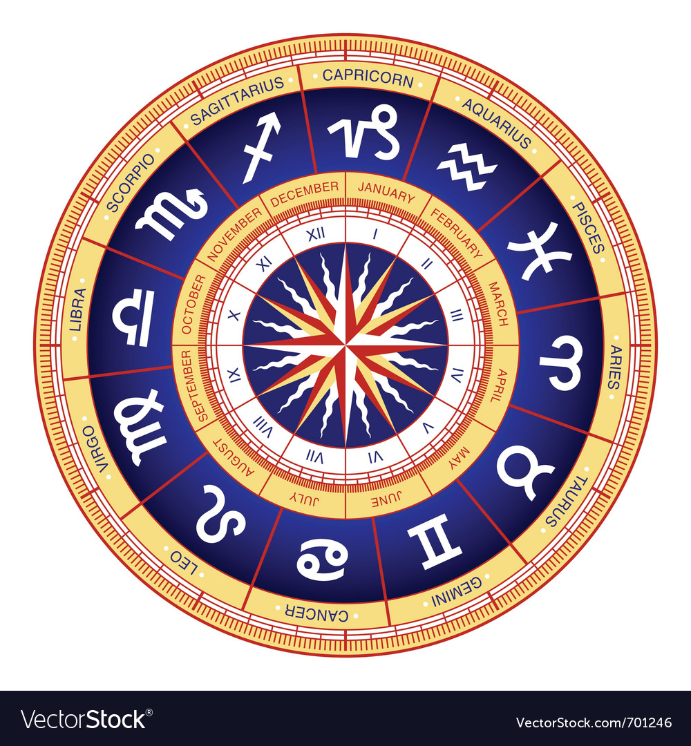 Astrological wheel vector | Price: 1 Credit (USD $1)