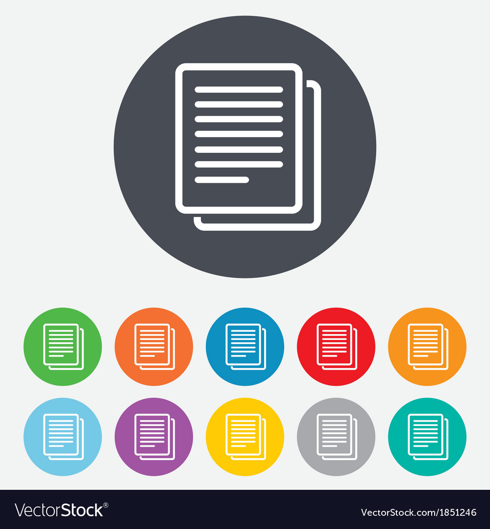 Copy file sign icon duplicate document symbol vector | Price: 1 Credit (USD $1)