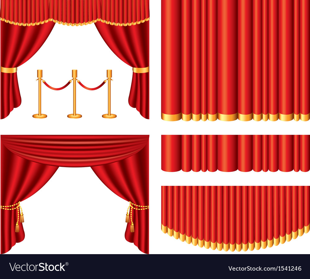 Curtains set vector | Price: 3 Credit (USD $3)