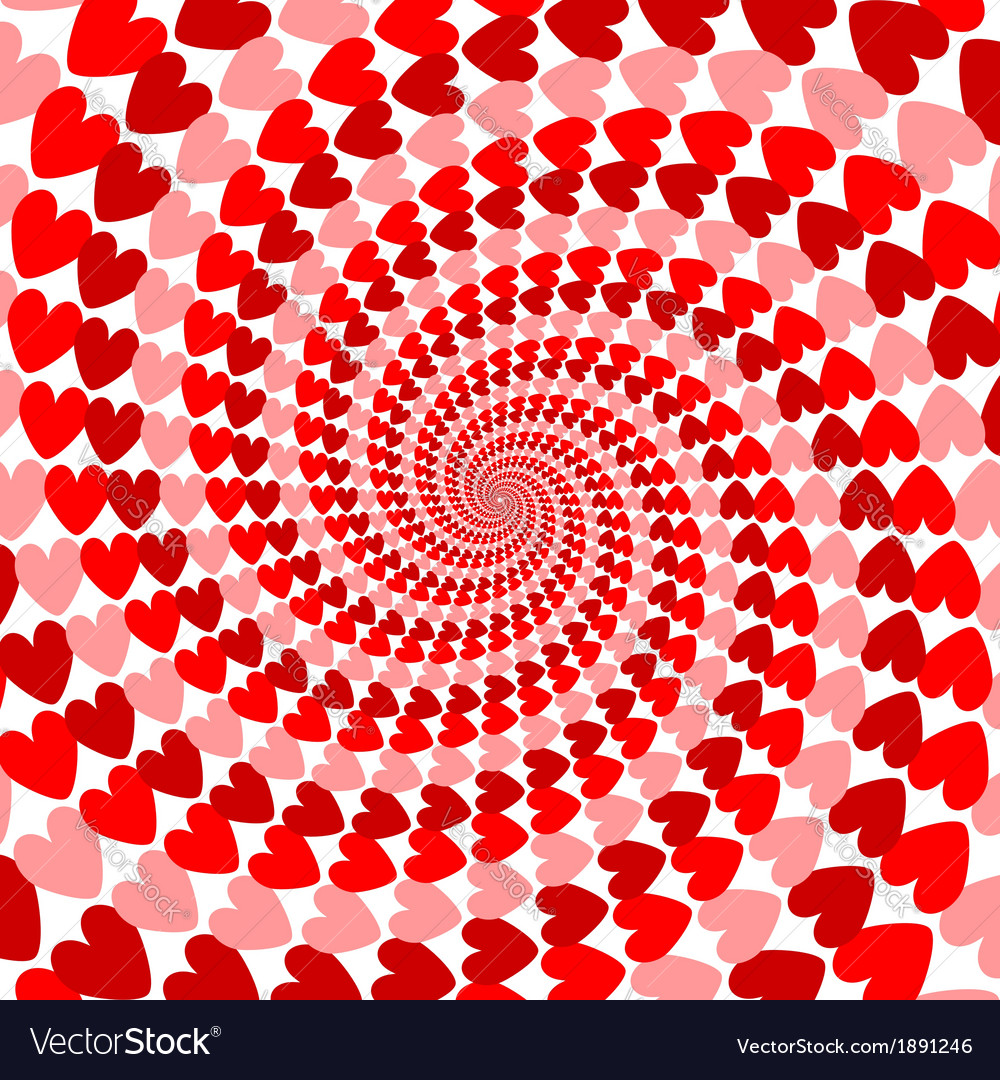 Design red striped heart helix movement background vector | Price: 1 Credit (USD $1)