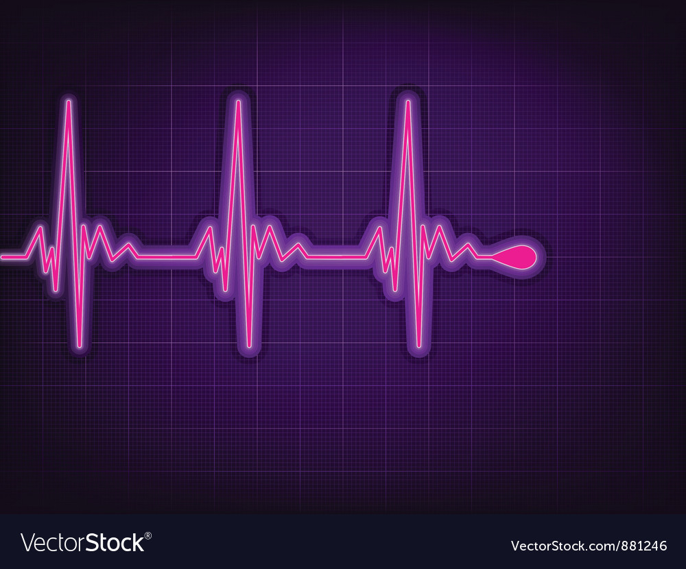 Heart cardiogram vector | Price: 1 Credit (USD $1)
