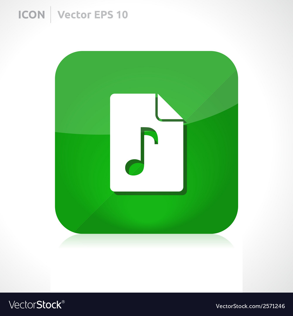 Music file icon vector | Price: 1 Credit (USD $1)