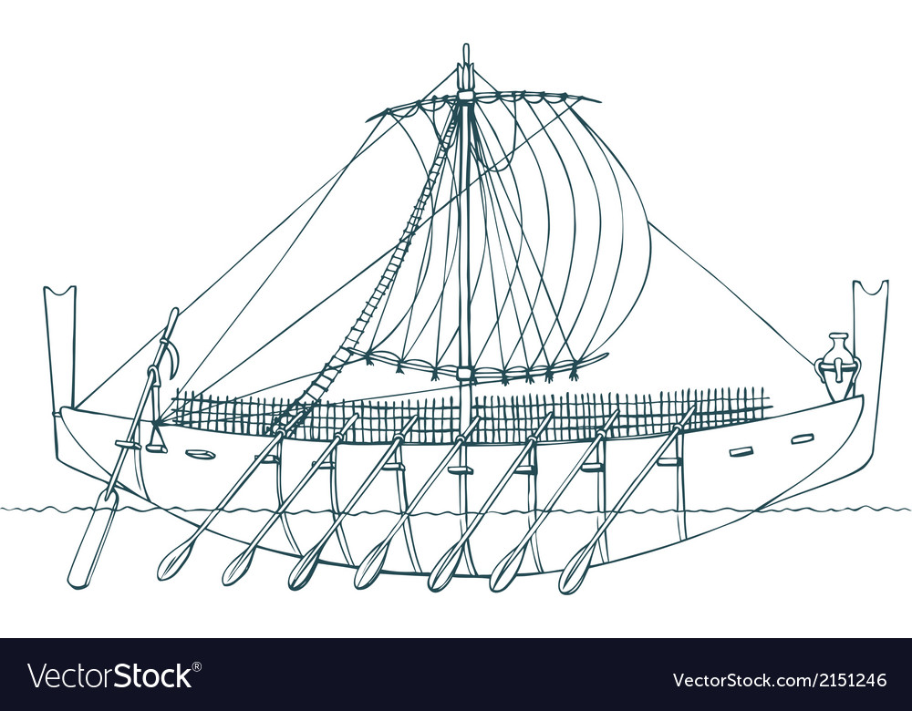 Phoenician ship vector | Price: 1 Credit (USD $1)