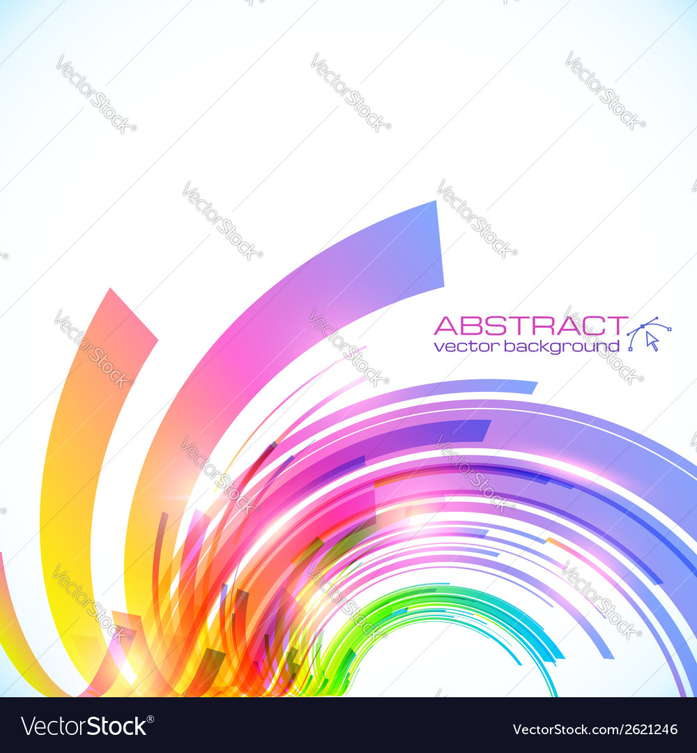Rainbow colors abstract shining background vector | Price: 1 Credit (USD $1)