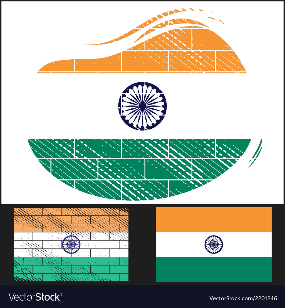 Scratched flag of india vector | Price: 3 Credit (USD $3)