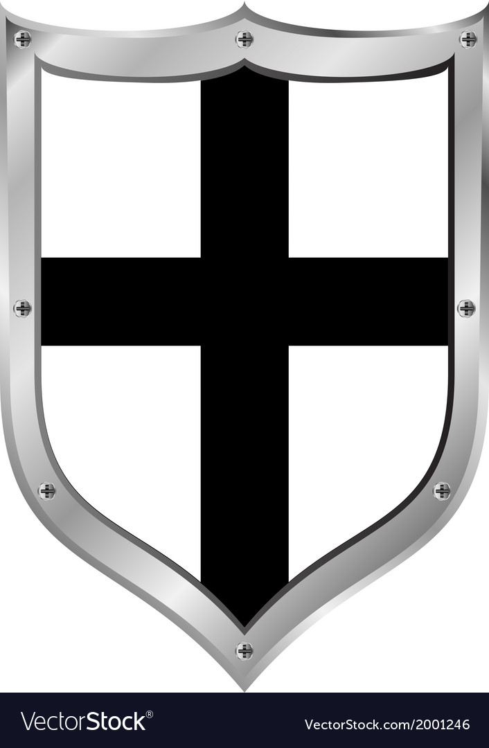 Shield medieval teutonic order vector | Price: 1 Credit (USD $1)