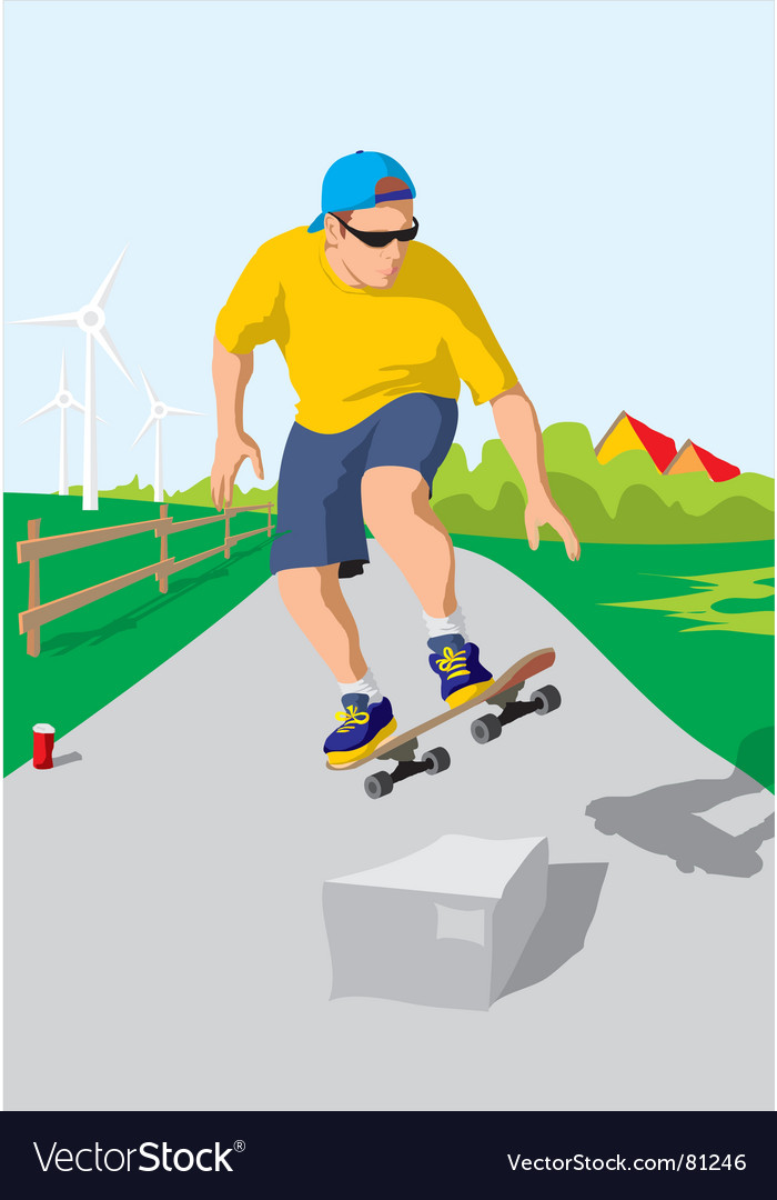 Skateboarder vector | Price: 3 Credit (USD $3)