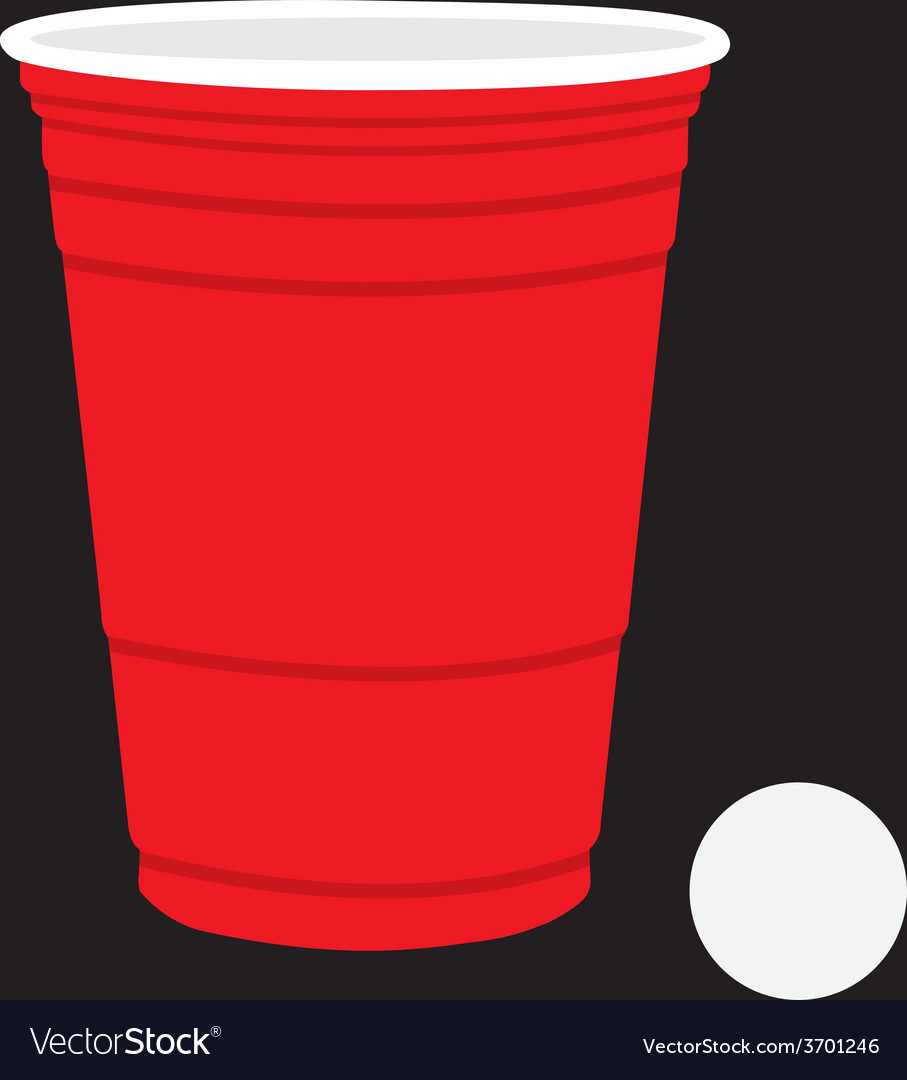 Solo cup and ball vector | Price: 1 Credit (USD $1)