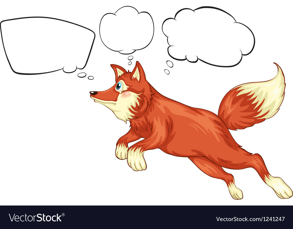 A fox in a jumping position with empty thoughts vector | Price: 1 Credit (USD $1)