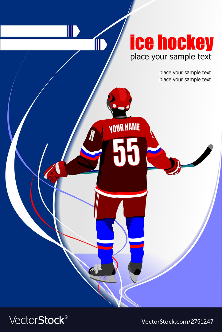 Al 0711 hockey poster 04 vector | Price: 1 Credit (USD $1)