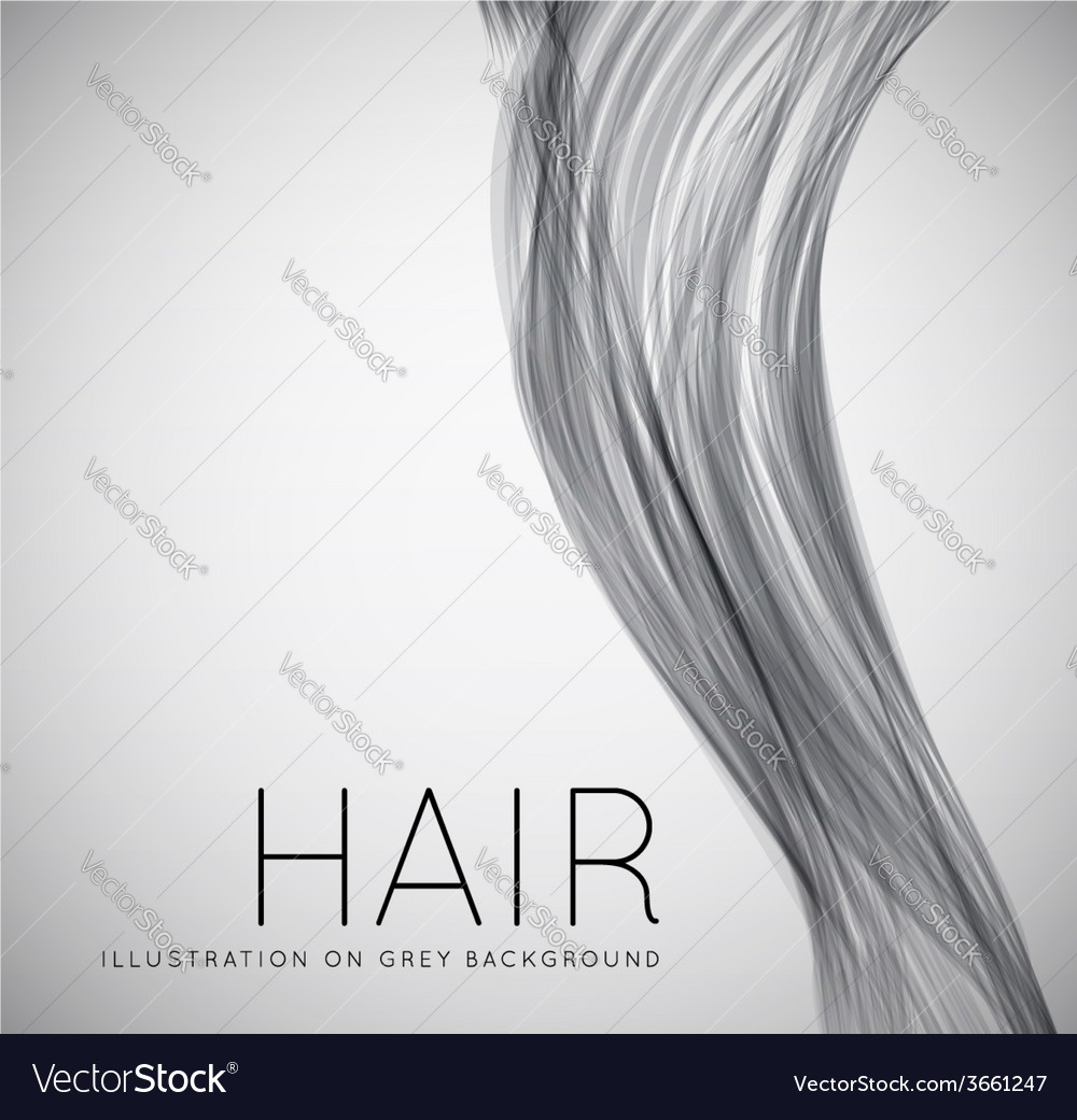Closeup of long human hair vector | Price: 1 Credit (USD $1)