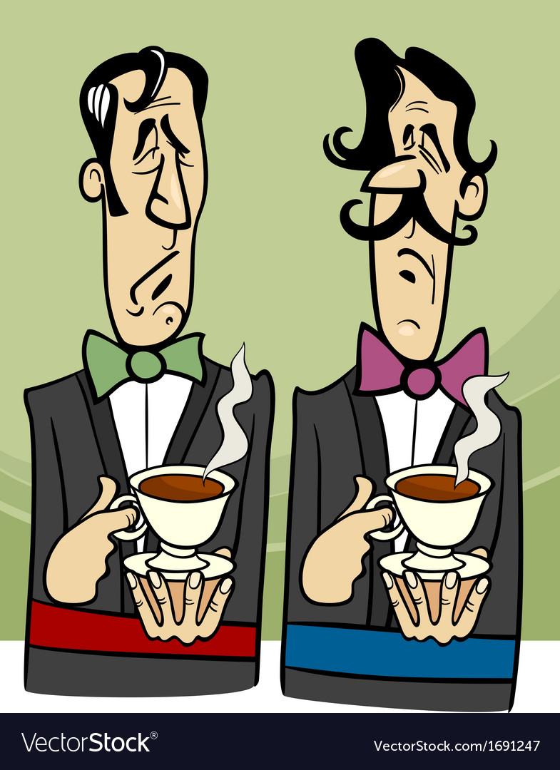 Dignified gentlemen cartoon vector   Price: 1 Credit (USD $1)