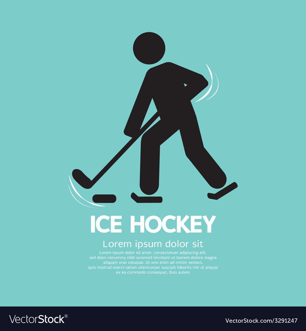 Ice hockey player symbol vector | Price: 1 Credit (USD $1)