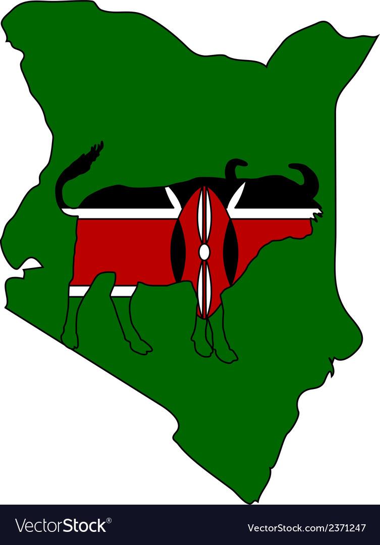 Kenya cape buffalo vector | Price: 1 Credit (USD $1)